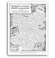 Sticky Burr Spooky Maze