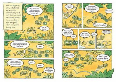 Sample page from Sticky Burr: Adventures in Burrwood Forest